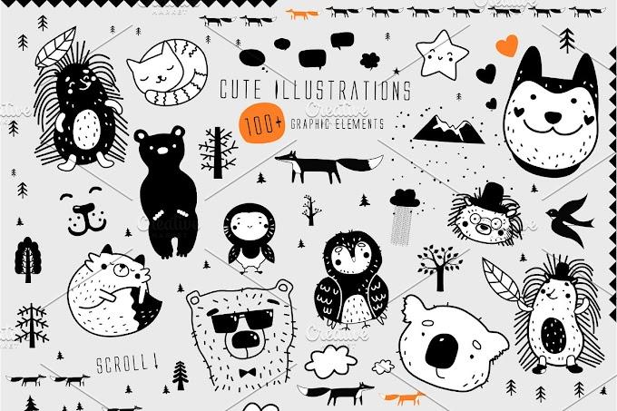 Nursery illustrations kit
