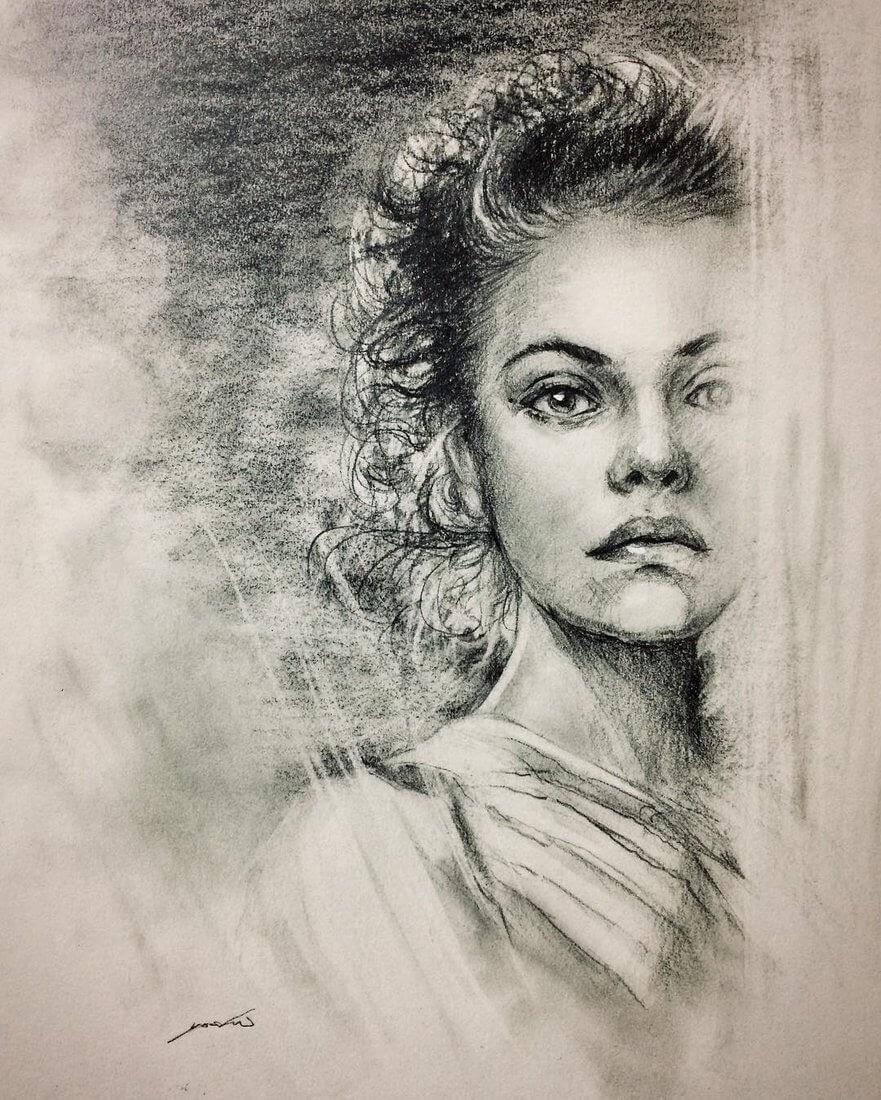 11-@vinograddik-Yoshi-Portrait-Drawings-of-People-on-Instagram-www-designstack-co