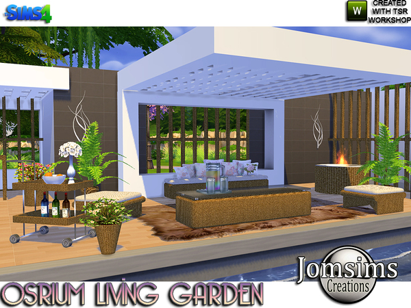 My Sims 4 Blog: Osrium Garden Outdoor Living Set by JomSims on My Garden Outdoor Living id=63069