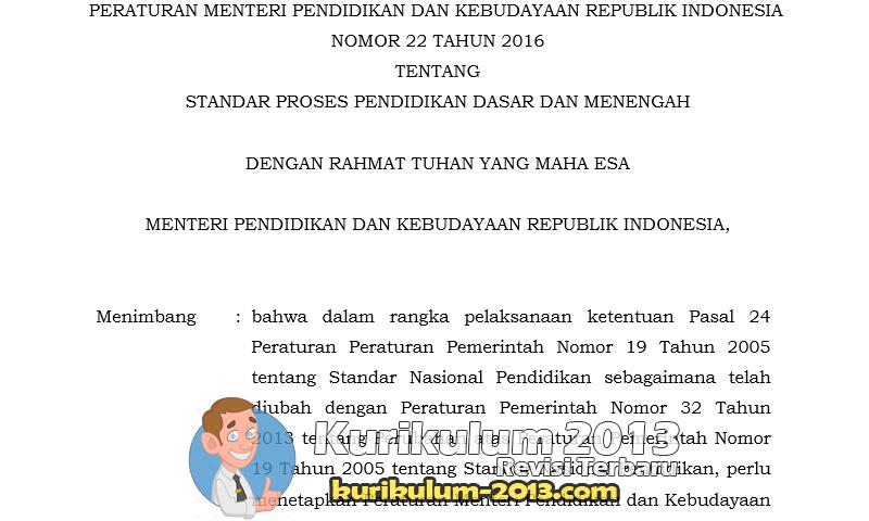 RPP Kurikulum 2013 Revisi Tahun 2016 Format Baru Dari Permendikbud No 22 Tahun 2016 - RPP K13
