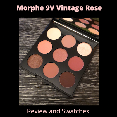 Review and Swatches: Morphe 9V Vintage Rose Palette