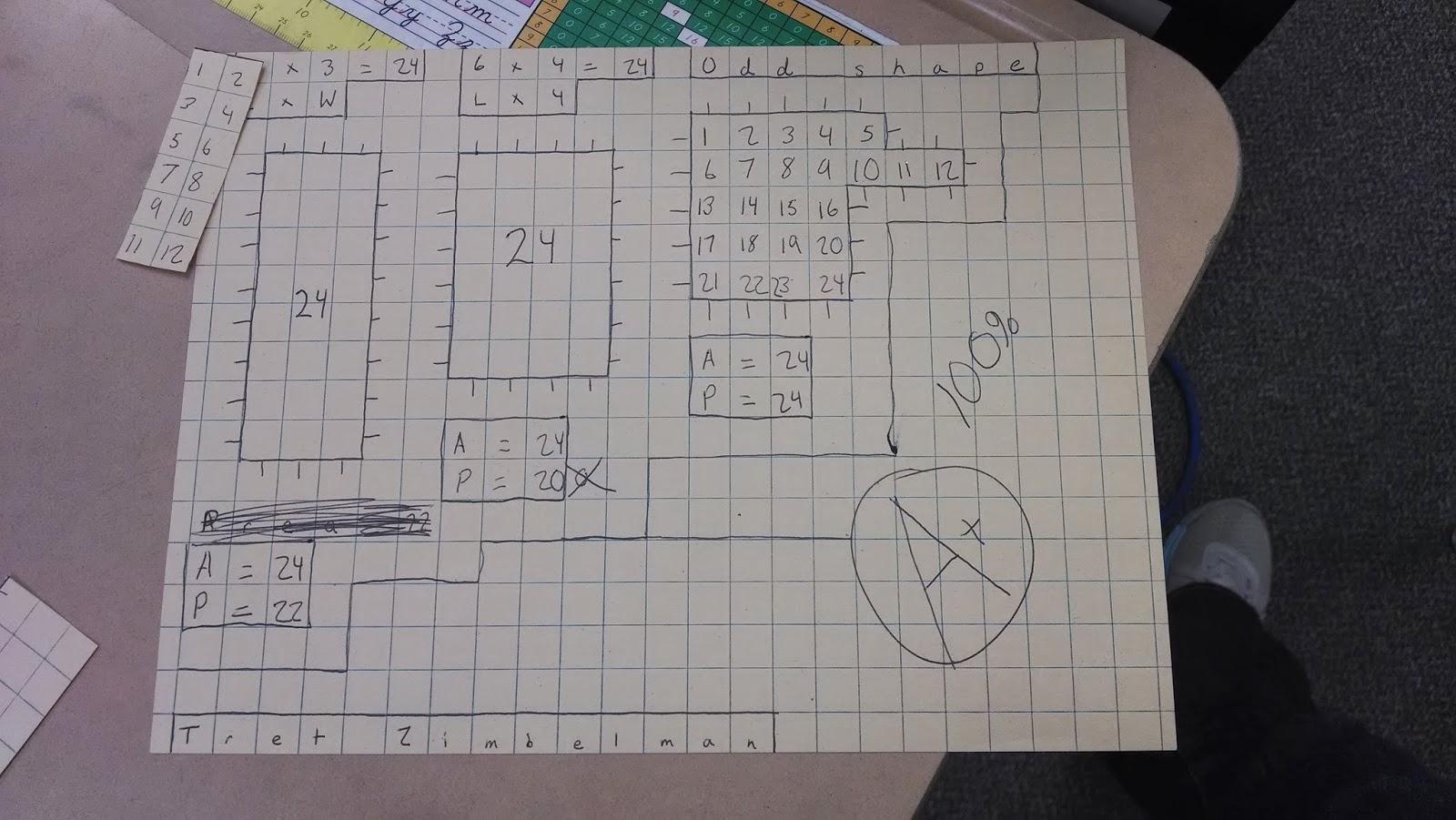 My Math Area Perimeter Worksheet