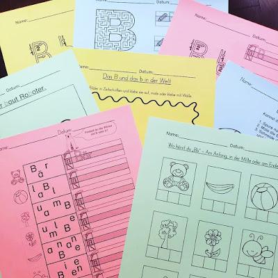 Vielfältige Aufgaben zum Üben der Buchstaben in Druckschrift