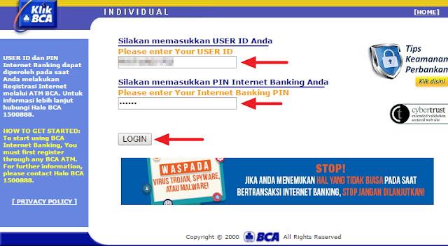 cara daftar internet banking bca, cara daftar e-banking bca, cara aktivasi internet banking bca, cara menggunakan internet banking bca