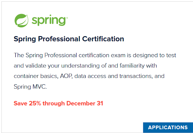 How to schedule Spring Professional Certification Exam using Voucher Online - Step by Step Guide