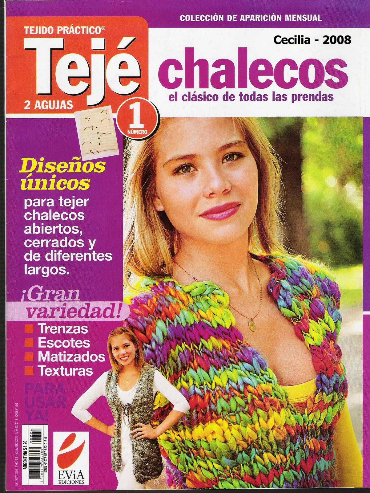 Revista  Tejido Practico 2 agujas - Especial Chalecos - Revistas ... 869922e5c401