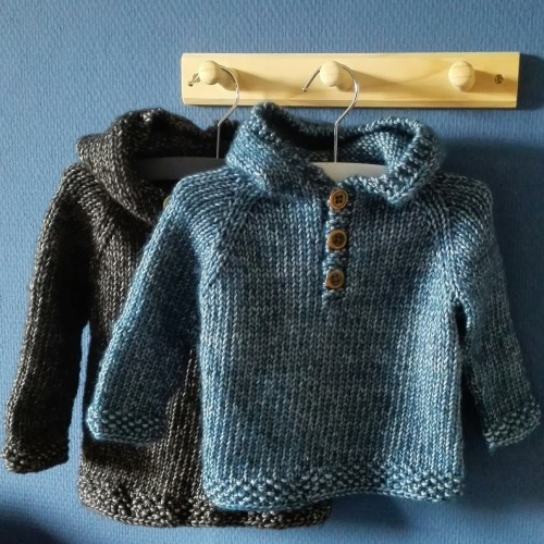 Seamless Baby Hooded Pullover - Free Pattern