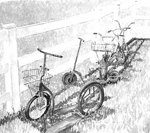 tableau trottinettes Amish