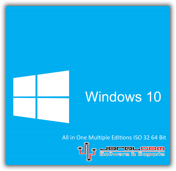 Windows 10 AIO 32 y 64 Bits Mega Imagen .ISO Multiple Edicion !!!