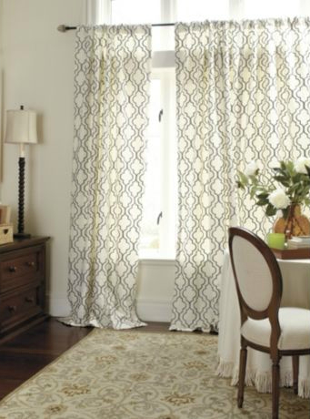 Drapery Panels For A Gray Dining Room
