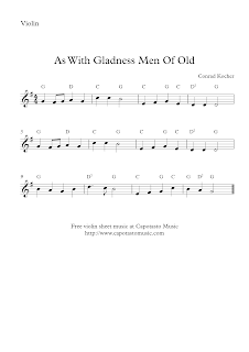 As With Gladness Men Of Old | violin