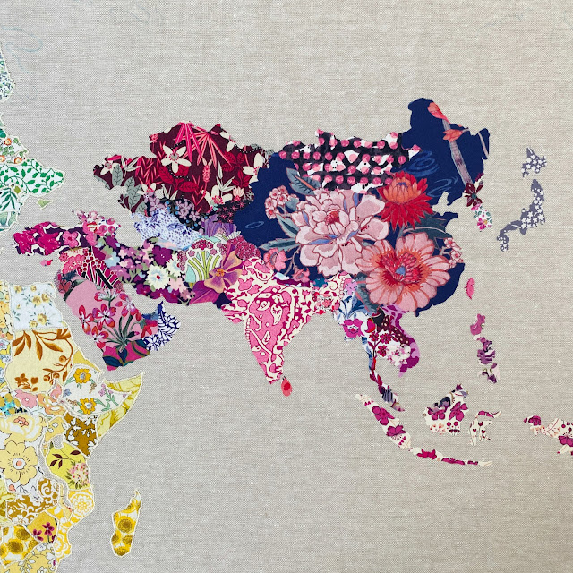 Flossie Teacakes' Liberty Print Map of the World