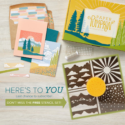 Kit contents of the Here's To You March 2021 Paper Pumpkin Kit