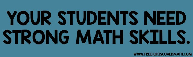 your students need strong math skills