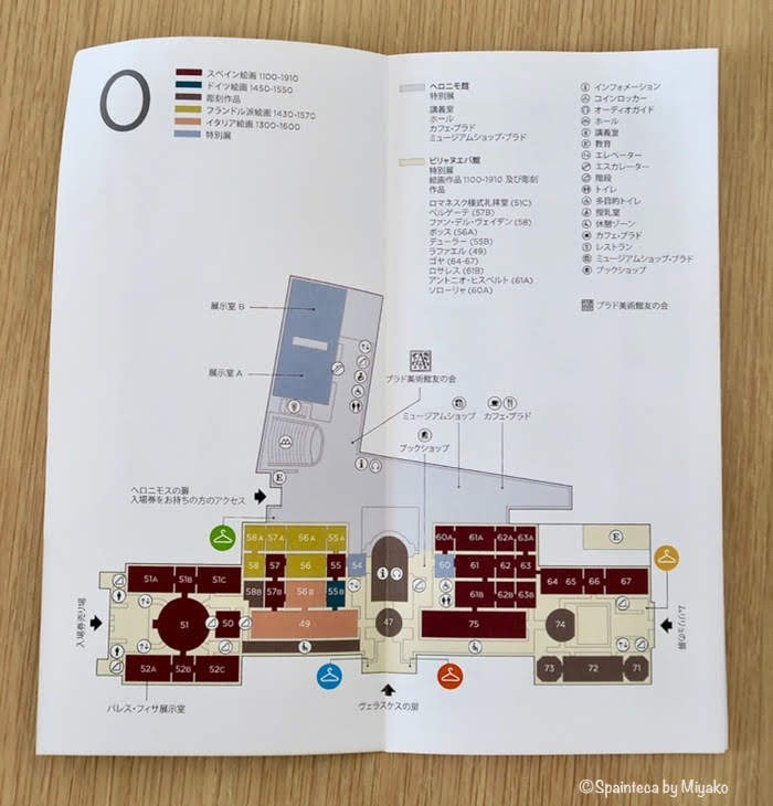 プラド美術館の館内地図
