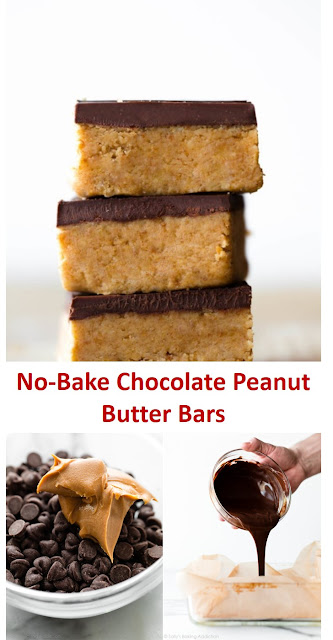 No-Bake Chocolate Peanut Butter Bars #No-Bake #Chocolate #Peanut #Butter #Bars #No-BakeChocolatePeanutButterBars