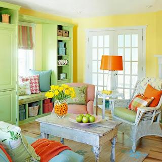 sala decorada colores pastel