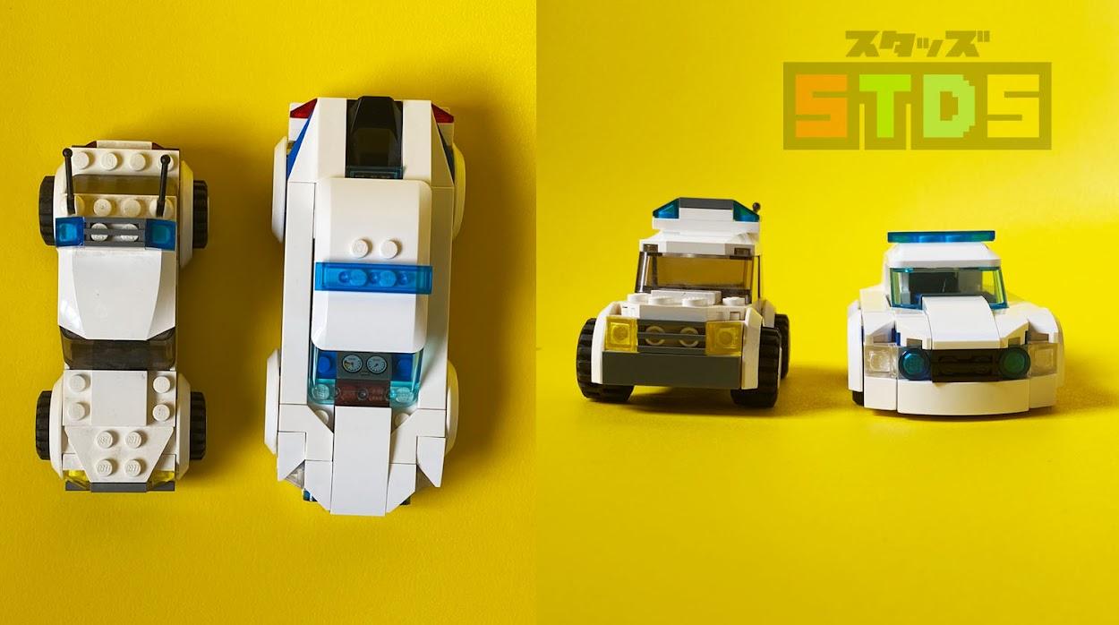 LEGOレビュー:シティのパトカー10年間の進化:旧型7236と新型60239を比較
