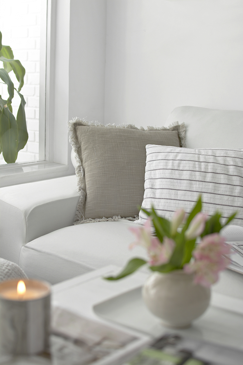 FUNDA BLANCA PARA SOFÁ KIVIK DE IKEA / WHITE COVER FOR IKEA KIVIK SOFA