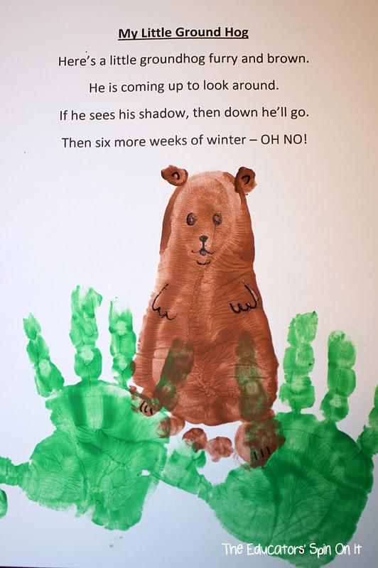 Groundhog+Footprint+and+handprints - Groundhog Day Activity For Kindergarten