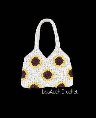 sunflower Crochet Bag Pattern Granny flower square Bag pattern