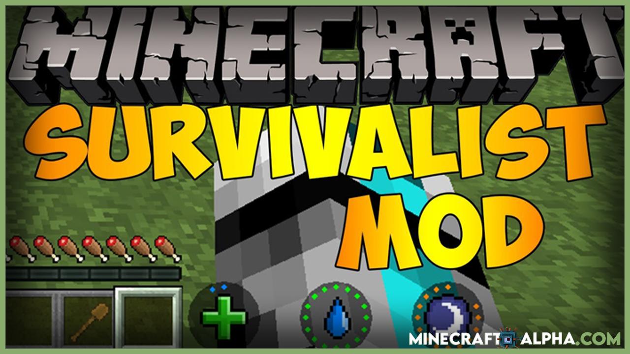 Survivalist Mod For 1.17.1, 1.16.5 (Ultimate Survival)