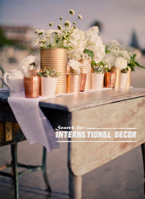 Creative Vases From Rececled Cans