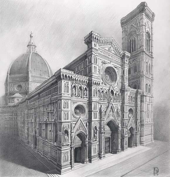 01-Santa-Maria-del-Fiore-Drawings-Denis-Chernov-www-designstack-co
