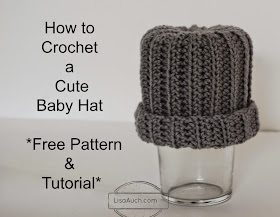 easy crochet baby newborn hat pattern free for hospitals