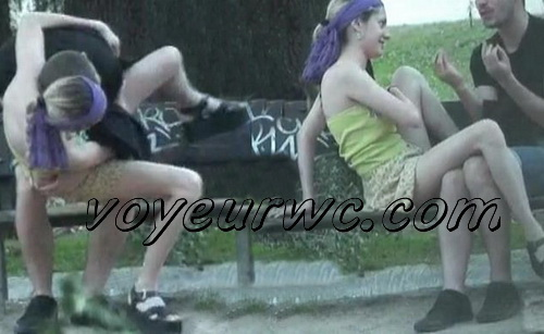 City Park Lovers - Public Voyeur Sex. Spy cam couple fuck in the bushes. (The Galician Day 17_21)