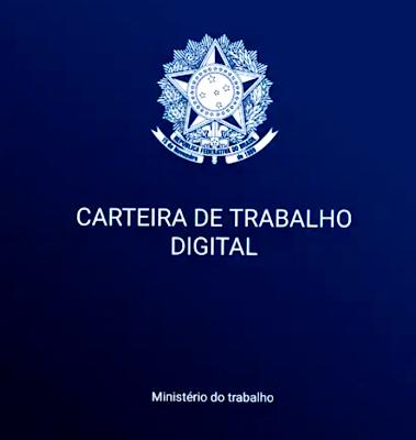 A foto mostra a carteira  de trabalho digital do trabalhador do Brasil. Infelizmente só existe hoje a carteira digital, mas trabalho que é bom é algo em extinção.