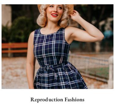 homepage_boutique_new_vintage_onlineshop_brodtischgasse_16_gudrun_bluemel_dolly_and_dotty_reproductions_fashion_bild_von_schoener_blonder_frau_mit_strohhut_und_blau_kariertem_kleid