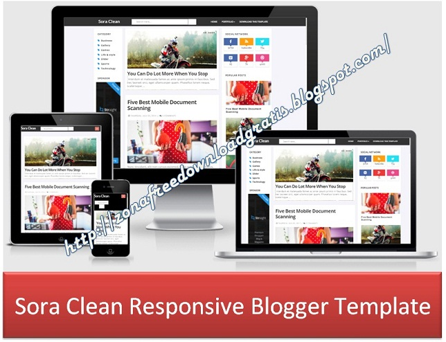 Sora Clean Responsive Blogger Template