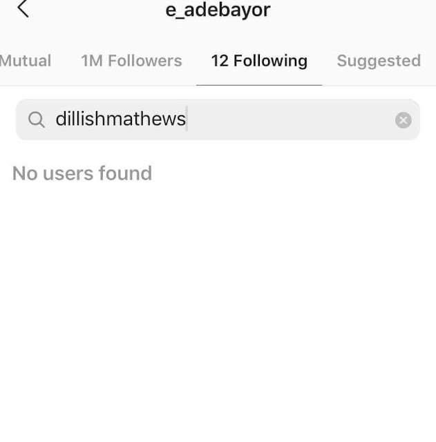 Emmanuel Adebayor & Girlfriend, Dillish Mathews Split, Unfollow Each Other On Instagram