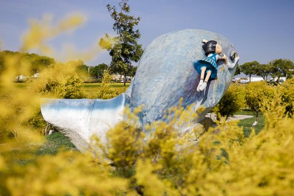 雲林西螺埤頭繪本公園充滿在地農村特色,可愛造型裝置藝術好好拍