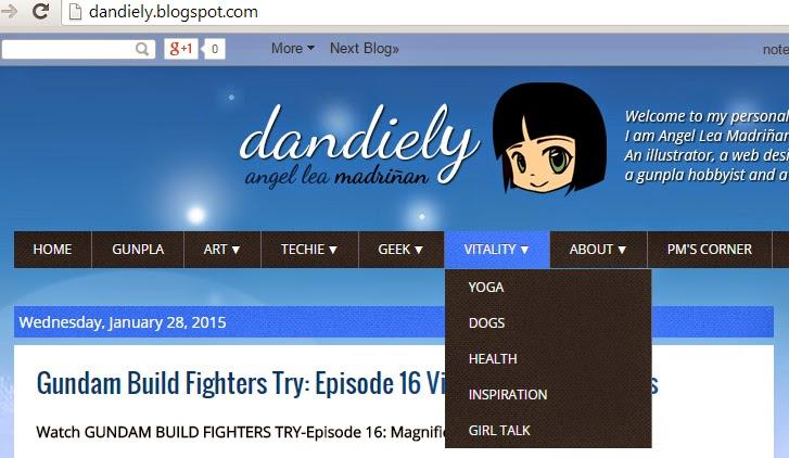 drop down menu widget for Blogger dandiely.blogspot.com