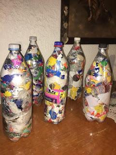 botellas hechas eco ladrillos
