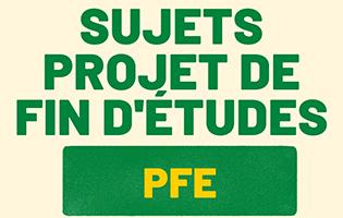 Sujets projet de fin d'études (PFE) 2021
