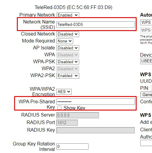 cambiar contraseña del wifi en router
