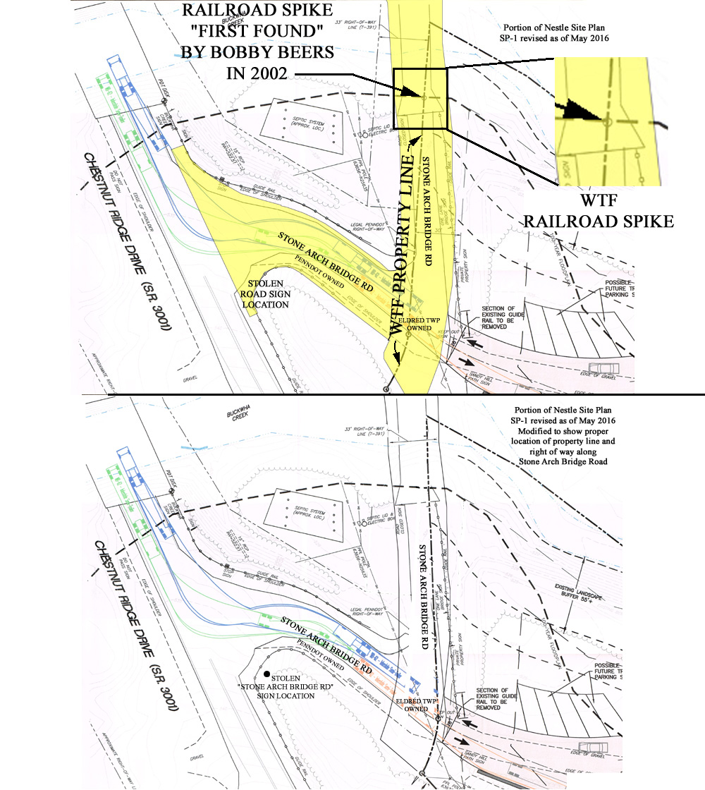 hight resolution of now let s look at the wtf property line on nestle s site plan the depiction of gower s property line crossing stone arch bridge road on a diagonal top