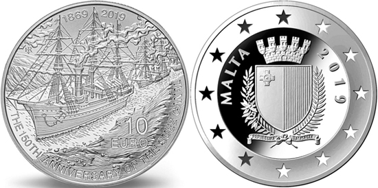 Malta 10 euro 2019 - 150th Anniversary of the Suez Canal