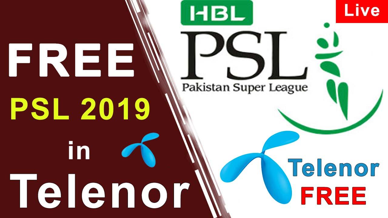 Telenor Free TV link | PSL 2019 Free in Telenor - ARK Dunya