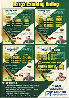 harga hidangan daging kambing kang asep