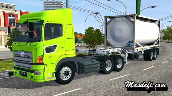 mod truck hino 700 tangki trailer