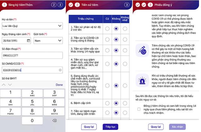 Khai báo thông tin trên ứng dụng Sổ sức khỏe điện tử