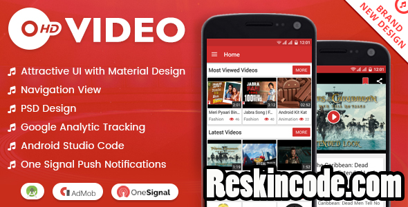 HD Video with Material Design Android Codecanyon