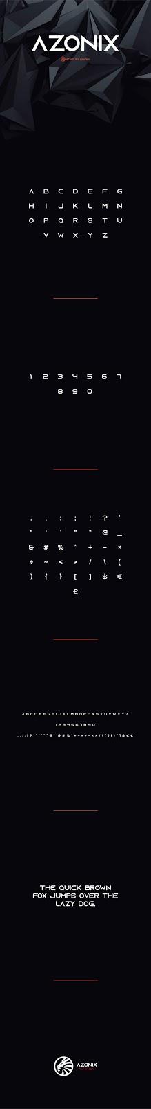AZONIX - FREE MODERN TYPEFACE