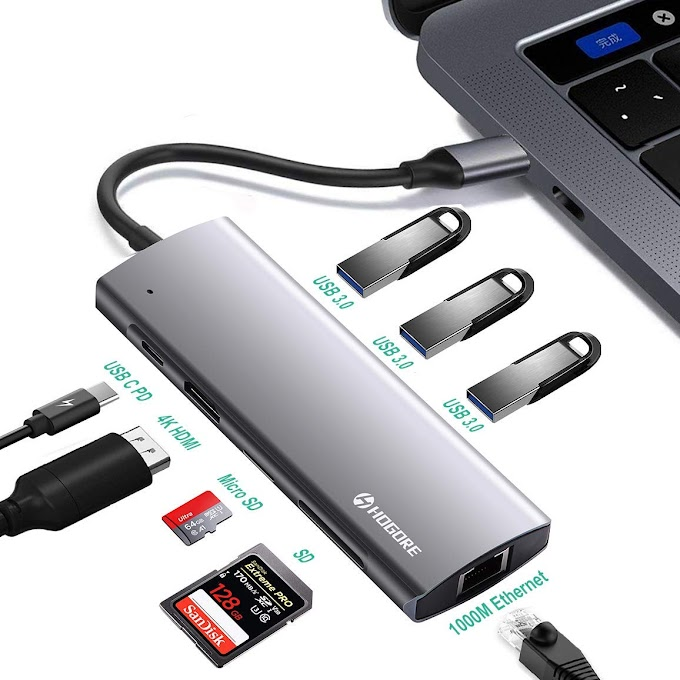 AMAZON - 50% off Premium USB C Hub with HDMI & Ethernet (8-in-1)