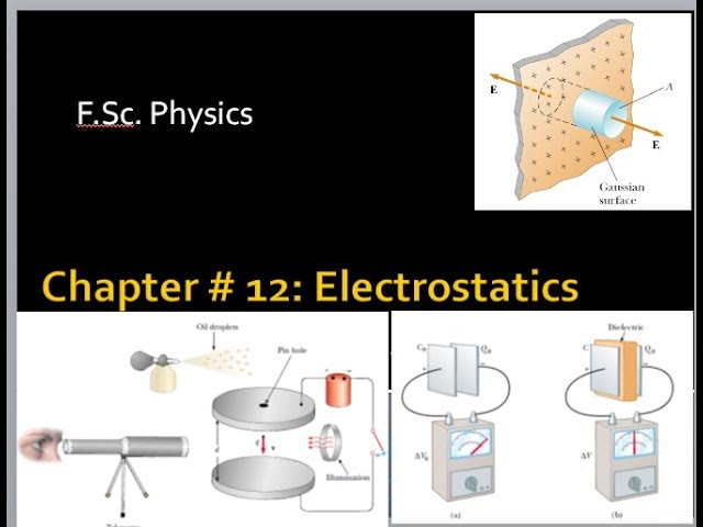 Chapter # 12: (F Sc  Physics 2nd Year) Electrostatics