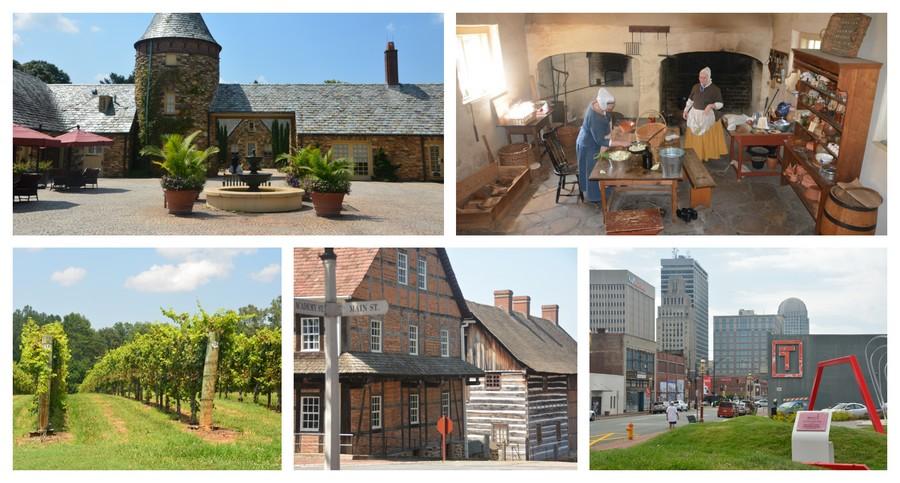 Visite de Old Salem et de la Yadkin Valley